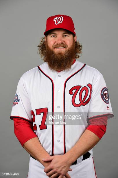 Shawn Kelley poses during Photo Day on Thursday February 22 2018 at the Ballpark of Palm Beaches in West Palm Beach Florida
