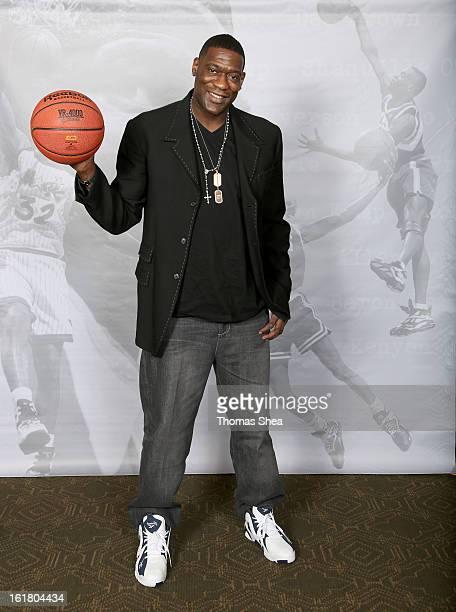 Shawn Kemp poses wearing Reebok Kamikazee shoes on February 16 2013 in Houston Texas