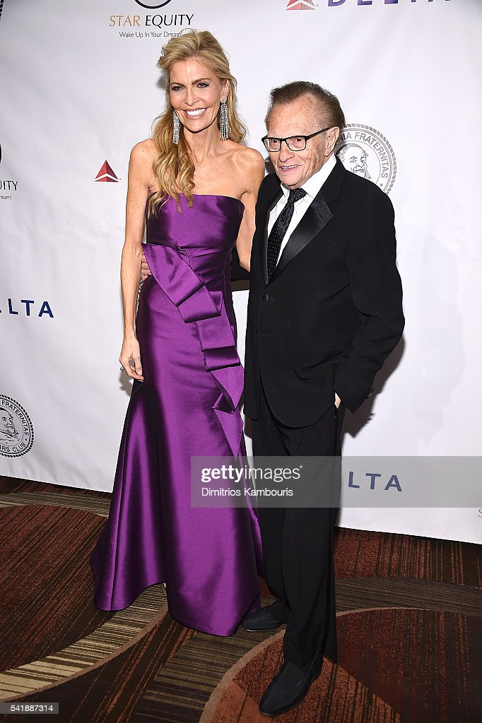 Shawn King and Larry King attend as the Friars Club Honors Tony Bennett With The Entertainment Icon Award - Arrivals at New York Sheraton Hotel & Tower on June 20, 2016 in New York City.