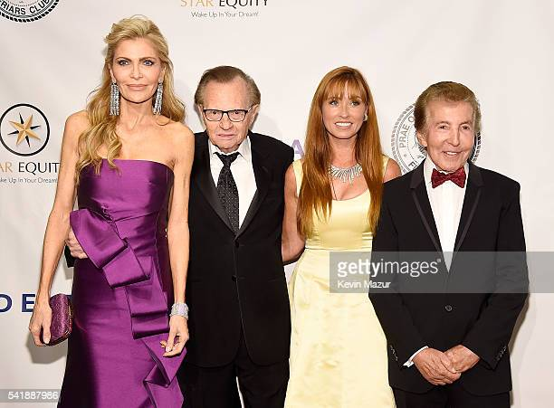 Shawn King Larry King Nancy Malnik and Al Malnik attend Friars Club honors Tony Bennett with The Entertainment Icon Award at New York Sheraton Hotel...