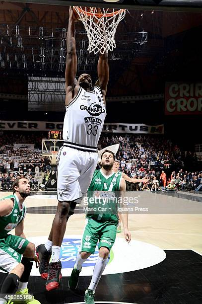 Shawn King of Granarolo in action during the LegaBasket Serie A1 match between Granarolo Bologna and Sidigas Avellino at Unipol Arena on December 22...