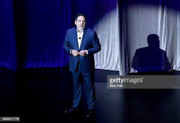 Shawn Layden President of Sony Interactive Entertainment America and Chairman of SIE Worldwide Studios speaks on stage during the PlayStation E3 2016...
