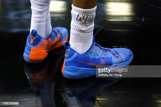 Shawn Long of the Breakers wears the Nike Kobe AD during the round 10 NBL match between the New Zealand Breakers and the Illawarra Hawks at...