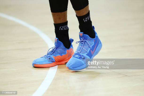 Shawn Long of the Breakers wears the Nike Kobe AD during the round 16 NBL match between the New Zealand Breakers and Melbourne United at Spark Arena...
