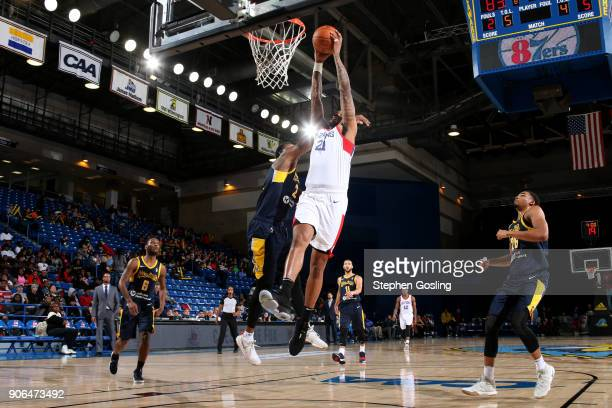 Shawn Long of the Delaware 87ers shoots the ball against the Fort Wayne Mad Ants during a GLeague at the Bob Carpenter Center in Newark Delaware on...