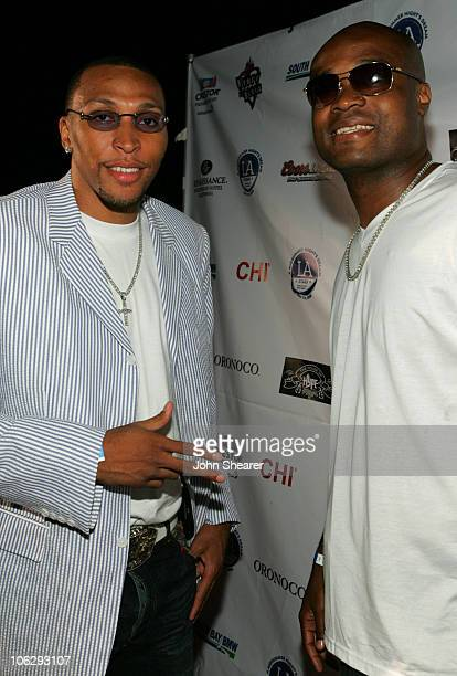 Shawn Marion and Antoine Walker during A Midsummer Night's Glam Jam Red Carpet at House of Blues in Los Angeles California United States
