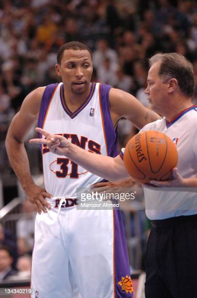 Shawn Marion of Phoenix gets a call clarified by the official during the NBA Europe Live Tour presented by EA Sports on October 11 2006 at the...