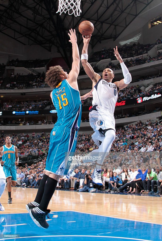 Shawn Marion #0 of the Dallas Mavericks drives to the basket against the New Orleans Hornets on April 17, 2013 at the American Airlines Center in Dallas, Texas.