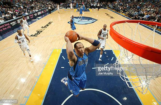 Shawn Marion of the Dallas Mavericks dunks against the Memphis Grizzlies on January 15 2011 at FedExForum in Memphis Tennessee NOTE TO USER User...