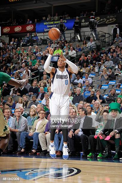 Shawn Marion of the Dallas Mavericks shoots against the Boston Celtics on March 17 2014 at the American Airlines Center in Dallas Texas NOTE TO USER...