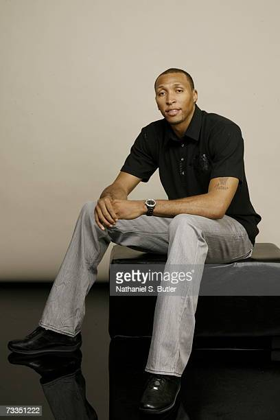 Shawn Marion of the Phoenix Suns poses for a portrait during 2007 AllStar Media Availability at the Palms Resort and Casino on February 16 2007 in...