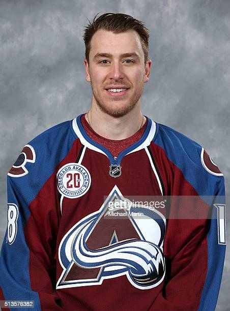 Shawn Matthias of the Colorado Avalanche poses for his official head shot prior to the game against the Florida Panthers at the Pepsi Center on March...