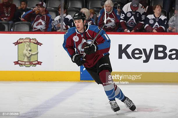 Shawn Matthias of the Colorado Avalanche skates prior to the game against the Florida Panthers at the Pepsi Center on March 03 2016 in Denver...