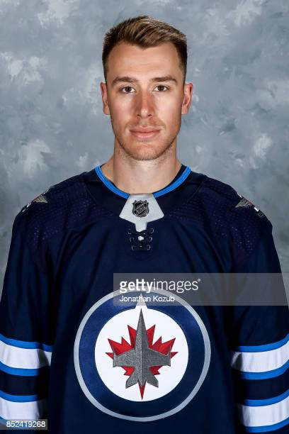 Shawn Matthias of the Winnipeg Jets poses for his official headshot for the 20172018 season on September 14 2017 at the Bell MTS Iceplex in Winnipeg...