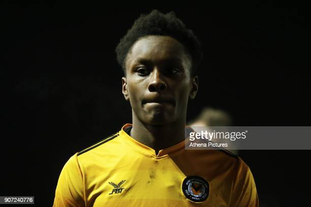 Shawn McCoulsky of Newport County after the final whistle of the Sky Bet League Two match between Newport County and Crawley Town at Rodney Parade on...