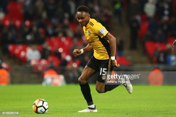 Shawn McCoulsky of Newport County during the Fly Emirates FA Cup Fourth Round Replay match between Tottenham Hotspur and Newport County at Wembley...