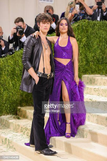 Shawn Mendes and Camila Cabello attend The 2021 Met Gala Celebrating In America: A Lexicon Of Fashion at Metropolitan Museum of Art on September 13,...