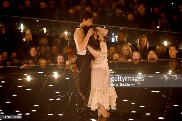 Shawn Mendes and Camila Cabello perform onstage during the 2019 MTV Video Music Awards at Prudential Center on August 26, 2019 in Newark, New Jersey.