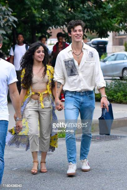 Shawn Mendes and Camila Cabello seen out and about in Manhattan on August 8 2019 in New York City
