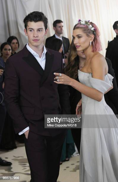 Shawn Mendes and Hailey Baldwin attend the Heavenly Bodies Fashion The Catholic Imagination Costume Institute Gala at The Metropolitan Museum of Art...