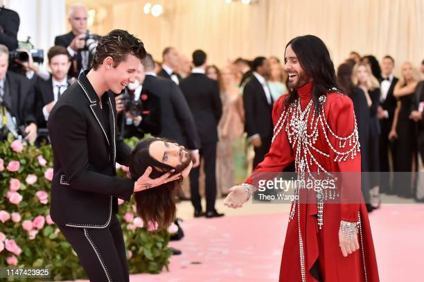 Shawn Mendes and Jared Leto attend The 2019 Met Gala Celebrating Camp Notes on Fashion at Metropolitan Museum of Art on May 06 2019 in New York City