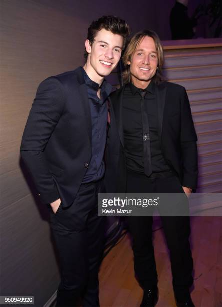Shawn Mendes and Keith Urban attend the 2018 Time 100 Gala at Jazz at Lincoln Center on April 24 2018 in New York CityÊ