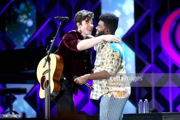 Shawn Mendes and Khalid perform onstage during 1027 KIIS FM's Jingle Ball 2018 Presented by Capital One at The Forum on November 30 2018 in Inglewood...