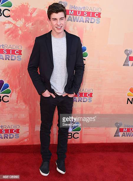 Shawn Mendes arrives at the 2015 iHeartRadio Music Awards at The Shrine Auditorium on March 29 2015 in Los Angeles California