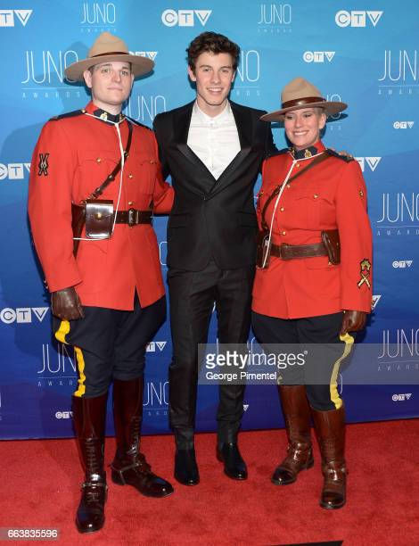 Shawn Mendes arrives at the 2017 Juno Awards at Canadian Tire Centre on April 2 2017 in Ottawa Canada