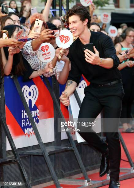 Shawn Mendes arrives at the 2018 iHeartRadio MuchMusic Video Awards at MuchMusic HQ on August 26 2018 in Toronto Canada
