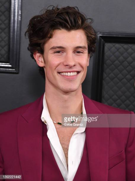 Shawn Mendes arrives at the 62nd Annual GRAMMY Awards at Staples Center on January 26 2020 in Los Angeles California