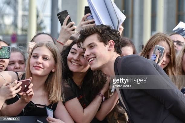 Shawn Mendes arrives at the Echo Award 2018 at Messe Berlin on April 12 2018 in Berlin Germany