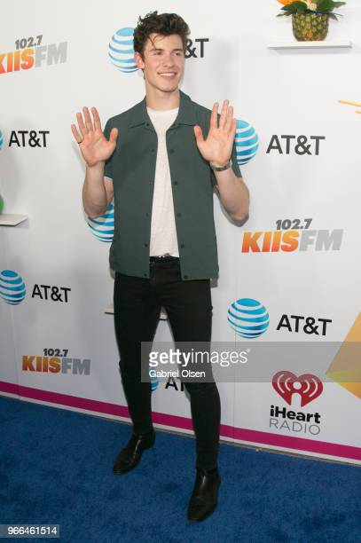 Shawn Mendes arrives for iHeartRadio's KIIS FM Wango Tango By ATT at Banc of California Stadium on June 2 2018 in Los Angeles California
