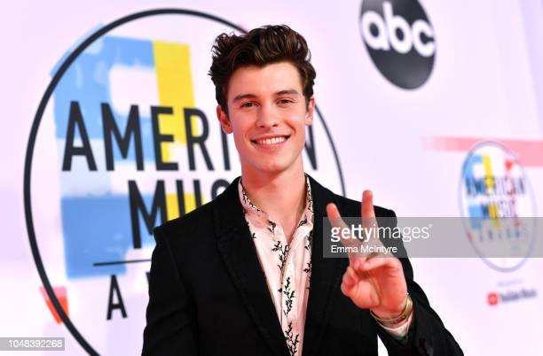 Shawn Mendes attends the 2018 American Music Awards at Microsoft Theater on October 9 2018 in Los Angeles California