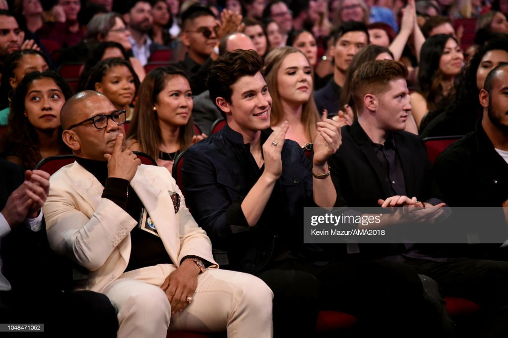 Shawn Mendes Attends The 2018 American Music Awards At Microsoft