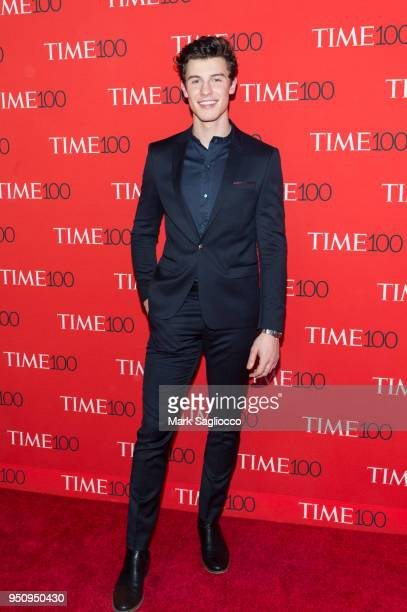 Shawn Mendes attends the 2018 Time 100 Gala at Frederick P Rose Hall Jazz at Lincoln Center on April 24 2018 in New York City