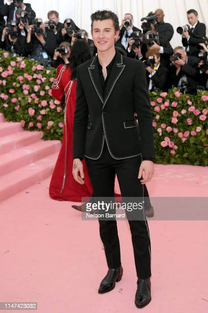 Shawn Mendes attends The 2019 Met Gala Celebrating Camp: Notes on Fashion at Metropolitan Museum of Art on May 06, 2019 in New York City.