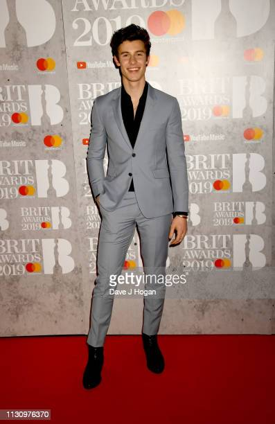 Shawn Mendes attends The BRIT Awards 2019 held at The O2 Arena on February 20 2019 in London England