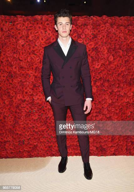 Shawn Mendes attends the Heavenly Bodies Fashion The Catholic Imagination Costume Institute Gala at The Metropolitan Museum of Art on May 7 2018 in...