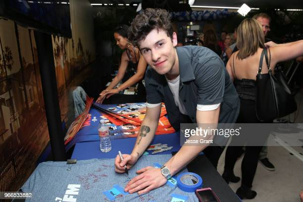 Shawn Mendes backstage at the 2018 iHeartRadio Wango Tango by ATT at Banc of California Stadium on June 2 2018 in Los Angeles California