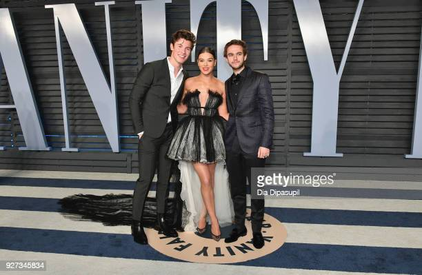 Shawn Mendes Hailee Steinfeld and Zedd attend the 2018 Vanity Fair Oscar Party hosted by Radhika Jones at Wallis Annenberg Center for the Performing...