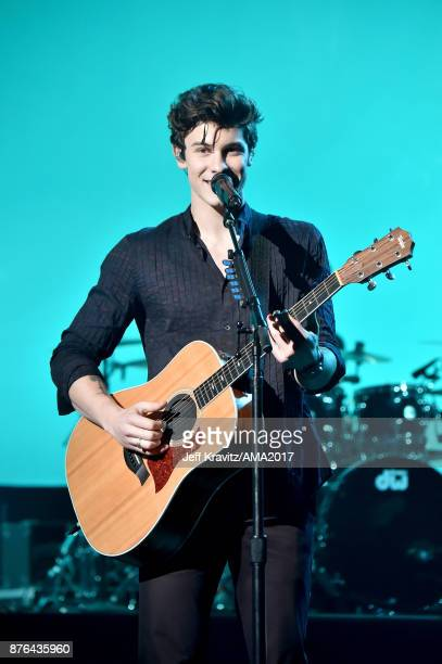Shawn Mendes onstage during the 2017 American Music Awards at Microsoft Theater on November 19 2017 in Los Angeles California