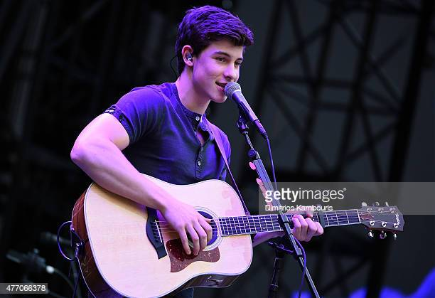 Shawn Mendes opens for Taylor Swift during The 1989 World Tour on June 13 2015 at Lincoln Financial Field in Philadelphia Pennsylvania