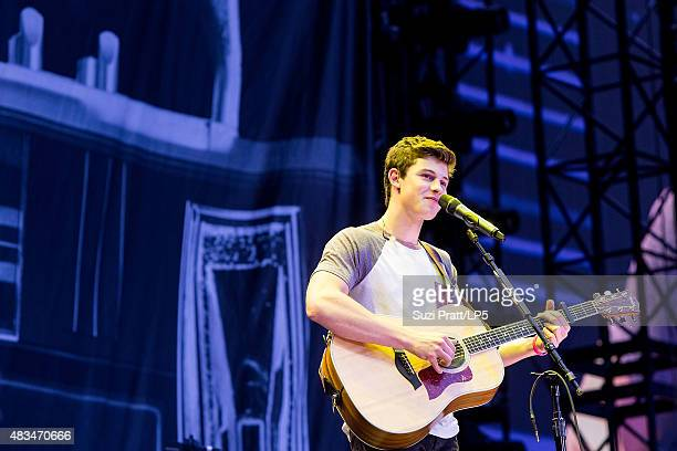Shawn Mendes performs at CenturyLink Field on August 8 2015 in Seattle Washington