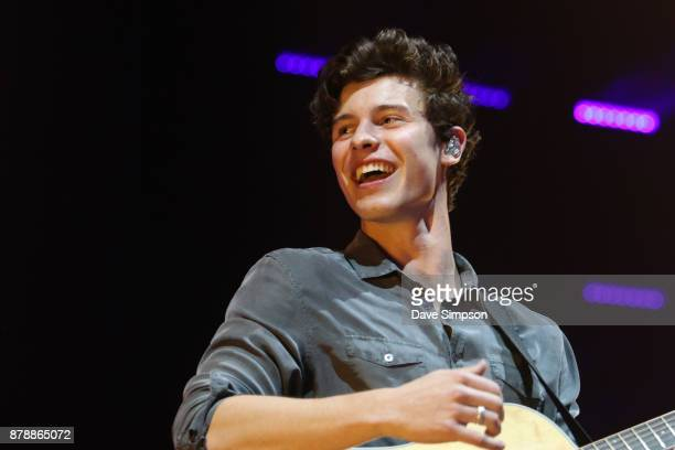 Shawn Mendes performs at Spark Arena on November 25 2017 in Auckland New Zealand