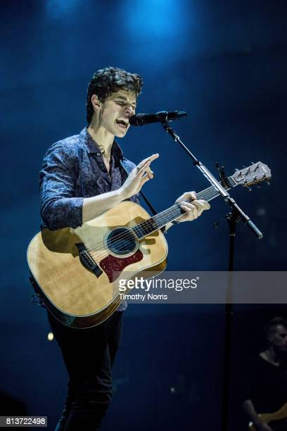 Shawn Mendes performs at Staples Center on July 12 2017 in Los Angeles California