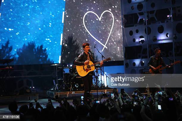 Shawn Mendes performs at the 2015 Much Music Video Awards at MuchMusic on Queen Street West in Toronto. June 21, 2015