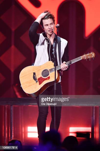 Shawn Mendes performs at Z100's Jingle Ball 2018 at Madison Square Garden on December 7 2018 in New York City