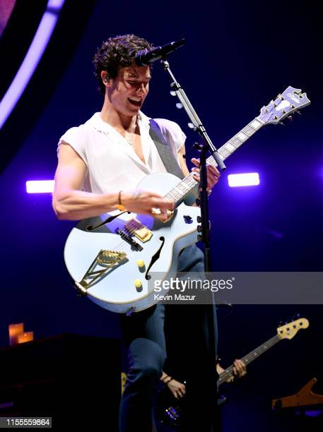 """Shawn Mendes performs during the kick off of the North American leg of """"Shawn Mendes: The Tour"""" at Moda Center on June 12, 2019 in Portland, Oregon."""