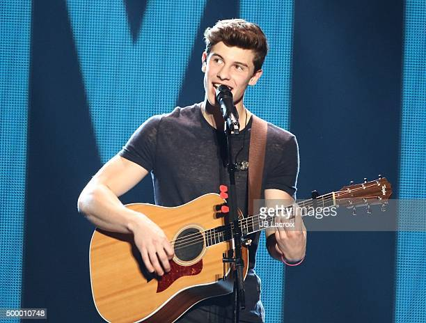Shawn Mendes performs during the KIIS FM's Jingle Ball 2015 presented by Capital One on December 4, 2015 in Los Angeles, California.